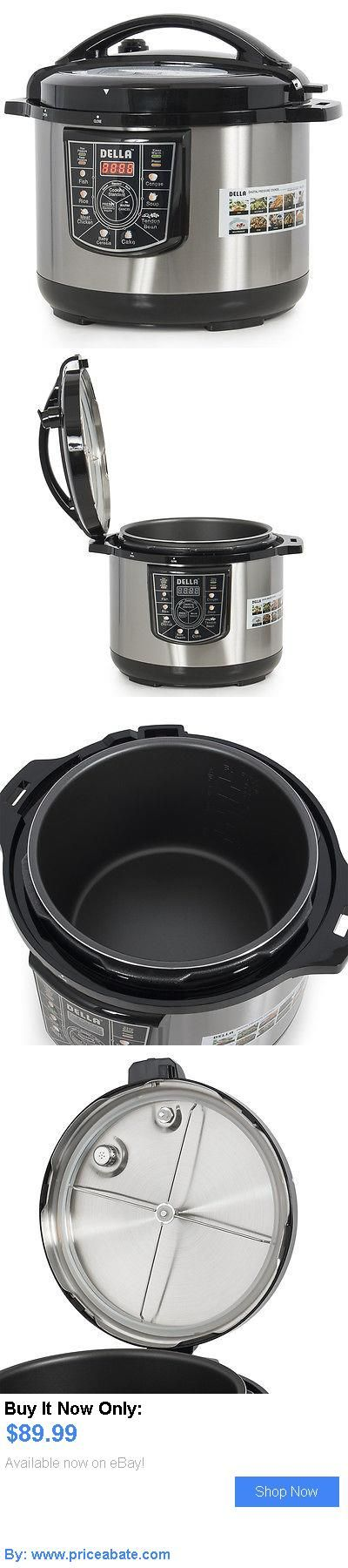 Small Kitchen Appliances: 10-Quart 1400-Watt Electric Pressure Cooker 8-In-1 Programmable Stainless Steel BUY IT NOW ONLY: $89.99 #priceabateSmallKitchenAppliances OR #priceabate