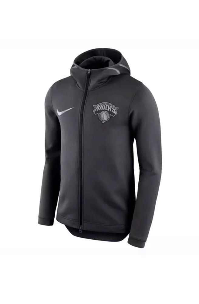 874eff523 Nike NBA New York Knicks Therma Flex Showtime Bench Hoodie Small S AA1685  014