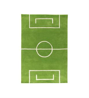An own football ground in the room - this green rug is a perfect gift for any kid interested in football!
