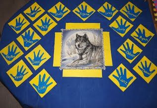 Our Wolf Den flag is finally finished!