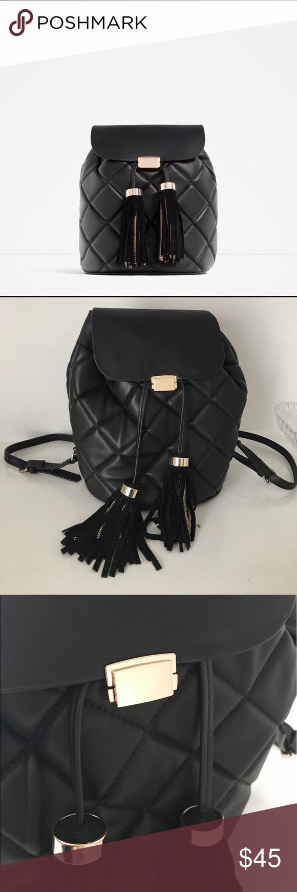 Zara Backpack with tassels Very nice backpack with two cute high quality tassels. Lightweight and roomy. Only used once! Sold out in store and online. Zara Bags Backpacks
