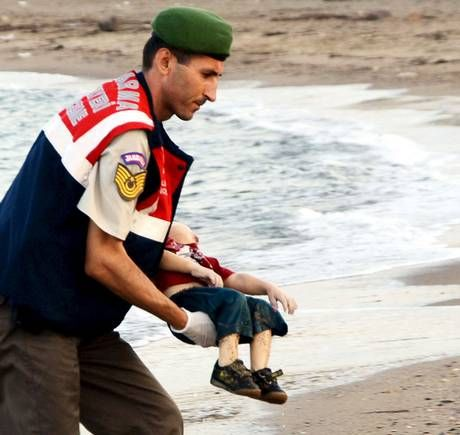 The boy was part of a group of 11 Syrians who drowned off the coastal town of Bodrum in Turkey after an apparent failed attempt to flee the war ravaged country