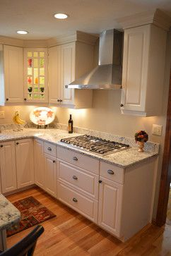Quartz was this homeowner's passion - easy to clean, non-porous and simply elegant.  Cambria's Praa Sands pattern complimented her cabinetry and stainless steel appliances perfectly.