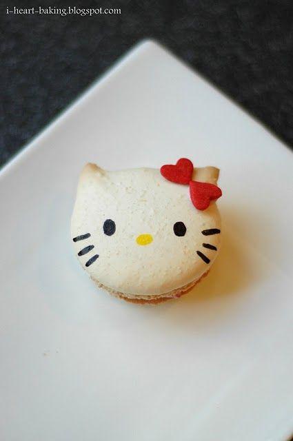 hello kitty macaronsTasty Recipe, Cookies, Sweets, Kitty Macarons, Food, Kitty Macrons, Hellokitty, Kitty Macaroons, Hello Kitty