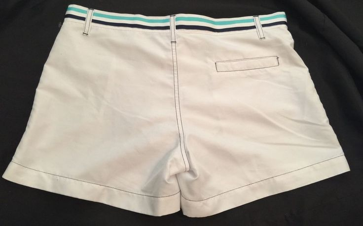"Couture Andrew Christian White Preppy 4"" Swim Trunks Board Shorts Liner Sz 30  