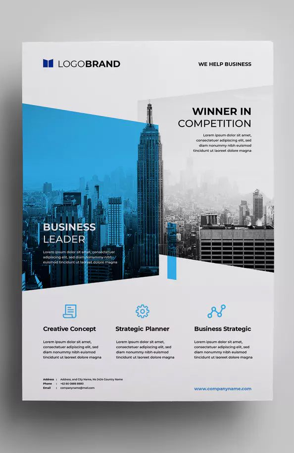 Corporate Flyer Template Ai Eps Easy Customizable And Editable