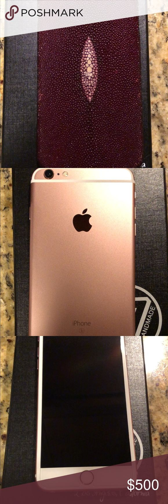 iPhone/protective glass cover Stingray Case condition: like new  make / manufacturer: APPLE  mobile OS: apple iOS  model name / number: IPHONE 6S PLUS  IPHONE: 6S PLUS Color: ROSE GOLD GB:128 IN FLAWLESS CONDITION LIKE NEW! NO SCRATCHES, NO DENTS...  SPRINT PROVIDER: PHONE IS CLEAN SOLD WITH PROTECTIVE SREEN GLASS COVER AND DESIGNERS STINGRAY CASE  SERIOUS BUYERS ONLY!!!  $500 PRICE NOT NEGOTIABLE & Other Stories Other