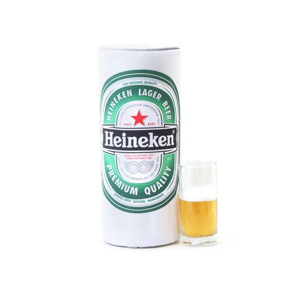 Pillow Bank of beer Heineken от pandashoping на Etsy