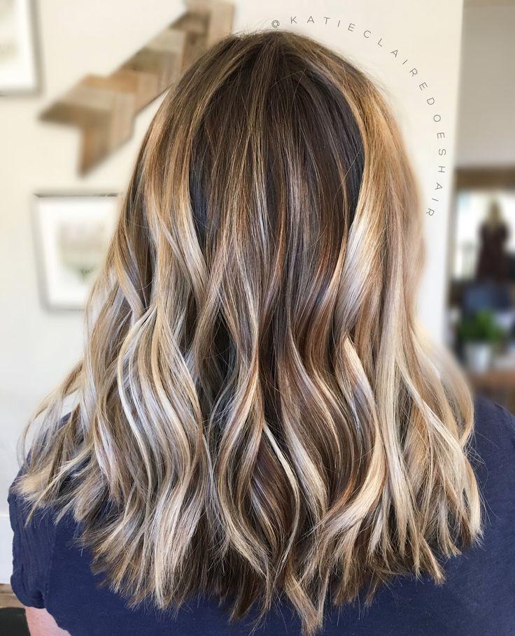 Balayage // painted hair // ashy hair // dimensional hair // highlights // brown hair