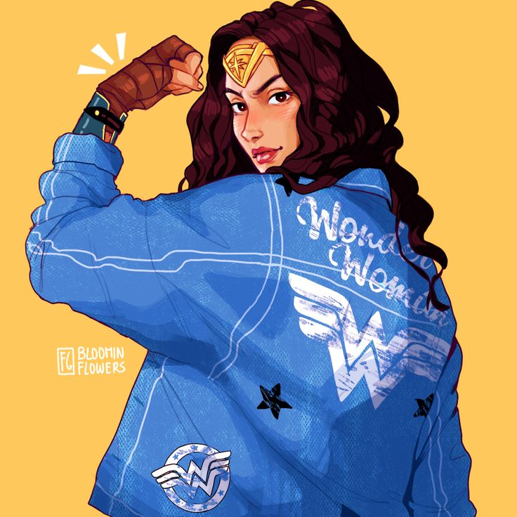 watched wonder woman last night and i really enjoyed it!! here's some fanart of her wearing the jacket i wore to the cinema bc why not ✨