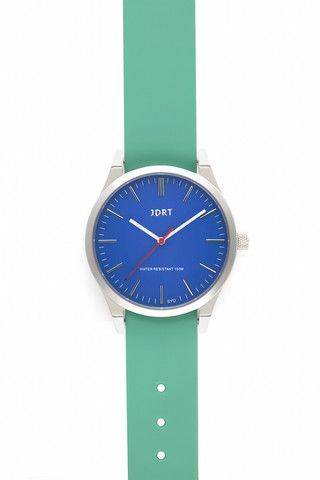 Azure Face with Mint Silicone Watch Band