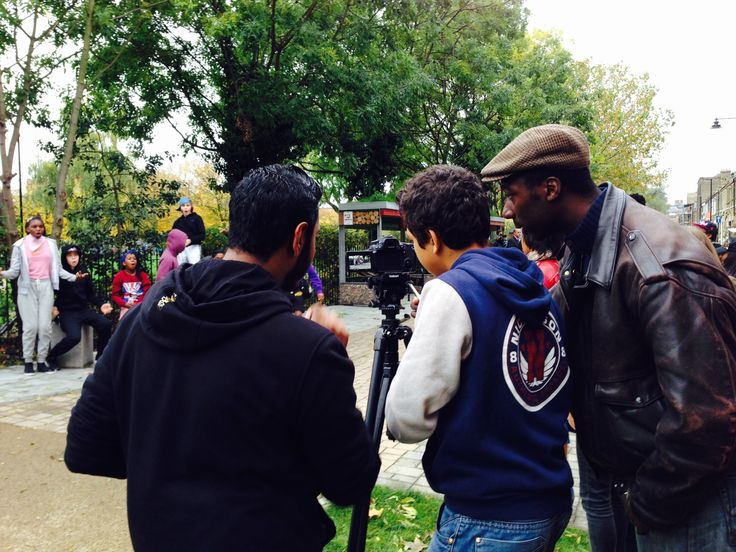 Young people learn how to use a professional camera - Making of The Music Video Y&T 2015