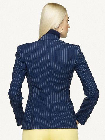 Pinstriped Lorianne Jacket - Jackets  Women - RalphLauren.com