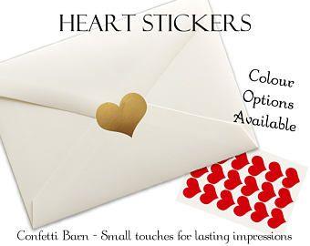 Hart Stickers - bruiloften - Valentijnsdag - verwijderbare Vinyl - Uitnodigingen feest - envelop afdichten Stickers - Planner Stickers #66