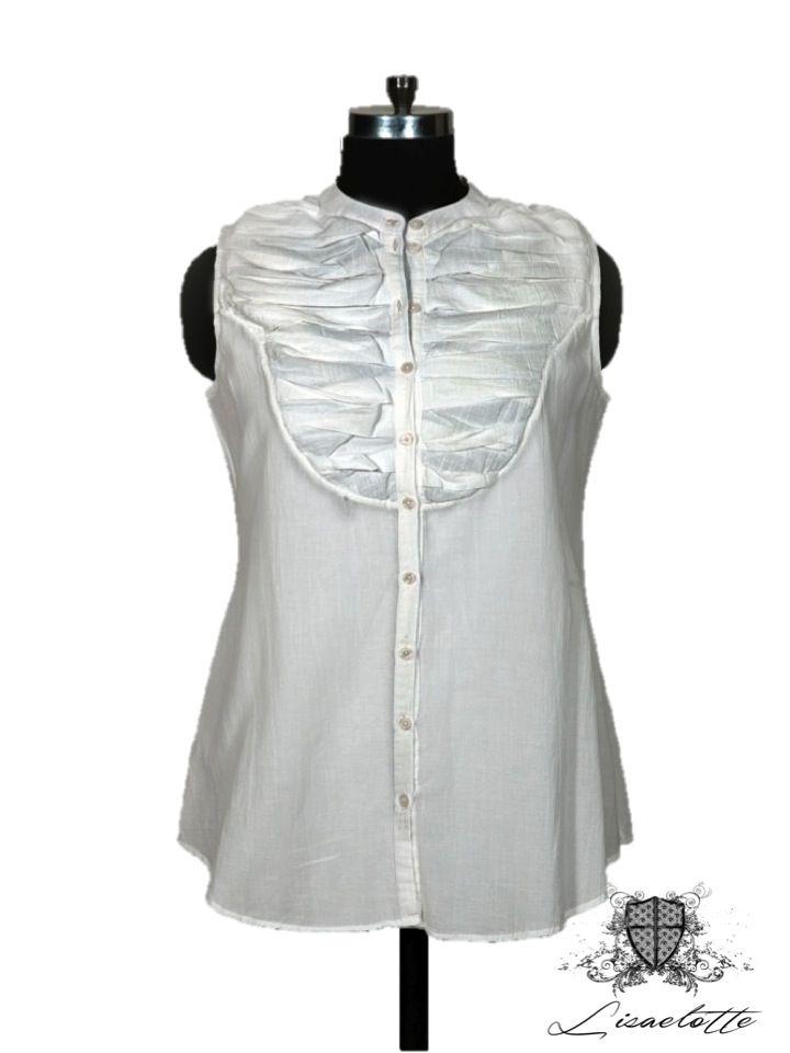 White Cotton Shirt#Cotton #Shirts #WomensClothing #Lisaelotte