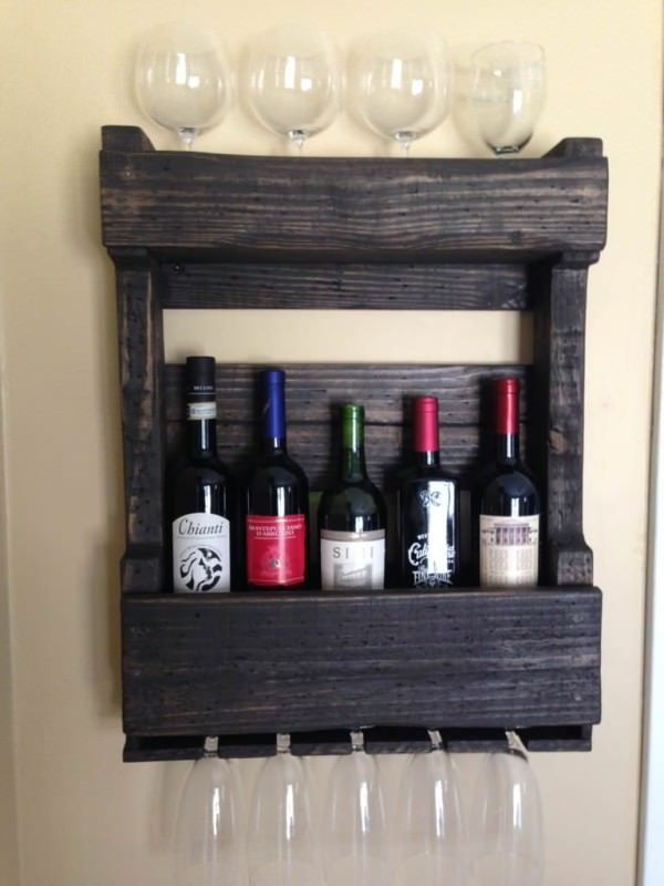 Pallets Wall Wine Rack Pallet Ideas Glasses Built Ins