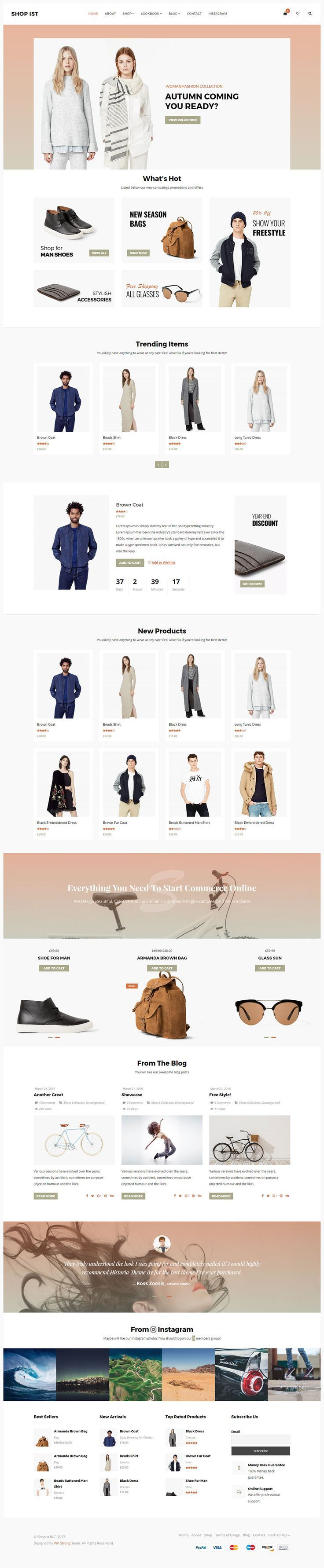 Shopist is a creative ecommerce responsive Wordpress theme coded with Wordpress Standard and Redux framework. The design is very elegant and modern, and also very easy to customize with 1170px grid.: https://themeforest.net/item/shopist-responsive-stylish-ecommerce-wordpress-theme/19477822?ref=rabosch