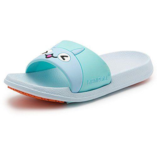 ef59cdd8cda1 Kenroll Unisex Kids Summer Bathroom Shower Anti Skid Beach Sandal Lovely  Non-slip EVA Home