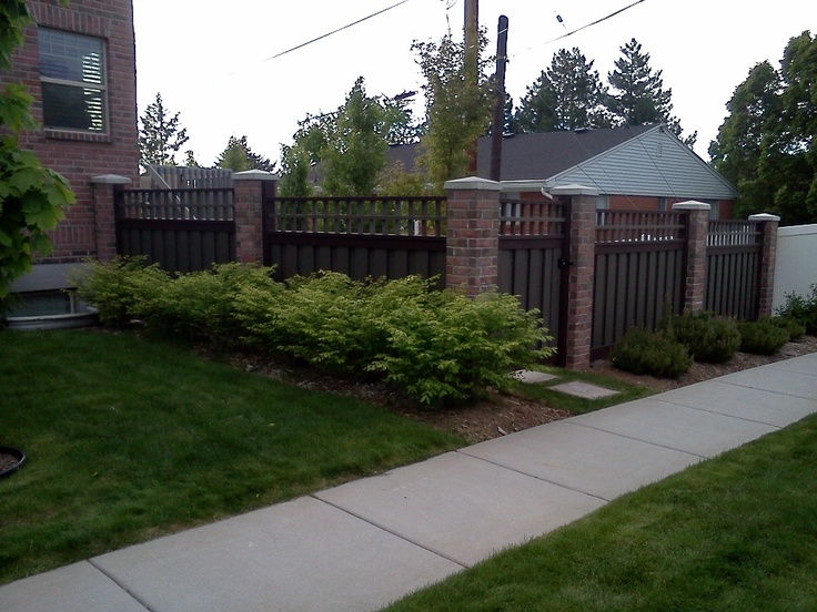 Composite Privacy Designs : Best fencing images on pinterest privacy fences