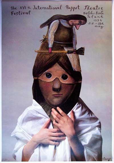 Polish Surreal Poster - by Stasys Eidrigevičius (born 1949, Lithuania)