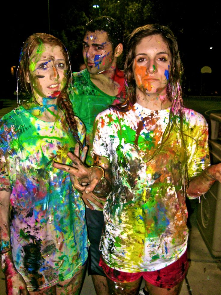 PAINT WAR- everyone wears white, use watered down water-based paint, fill water ballons and water guns