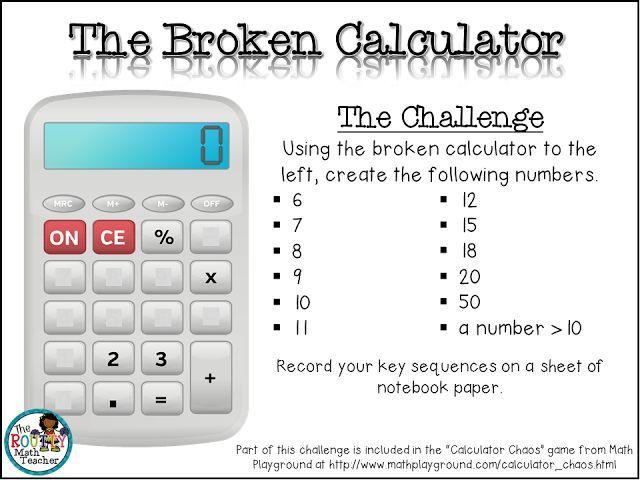 Thursday Tool School: Calculator Challenges- The Broken