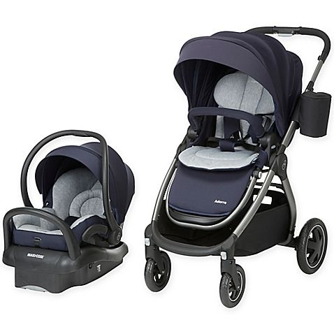 The premium Adorra Travel System from Maxi-Cosi perfectly pairs the versatile Adorra Stroller plus the ultra-lightweight Mico Max 30 Infant Car Seat to make travelling with your little one in and out of the car convenient and hassle-free.