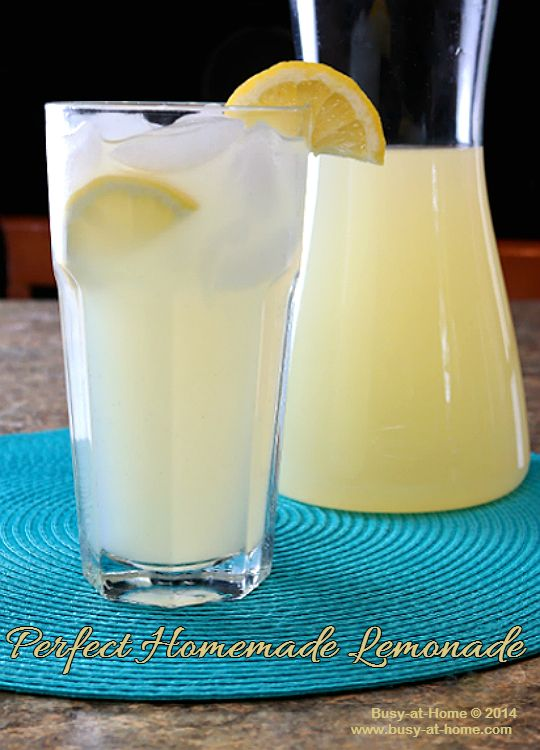 Perfect Homemade Lemonade, Quick and Simple All Summer Long! - Busy-at ...