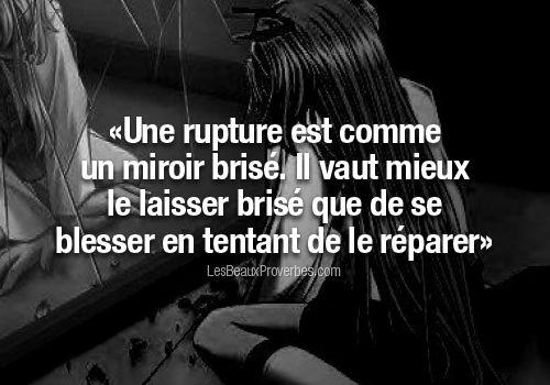 Une rupture est comme un miroir brisé...