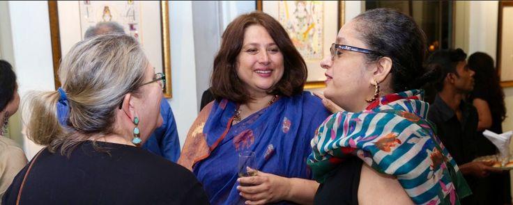 Kiran Rao, of #Amethyst #Chennai with Sarala Daruwalla of #Artworld Chennai ..