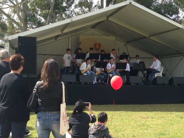 Live entertainment at Murdoch Open Day
