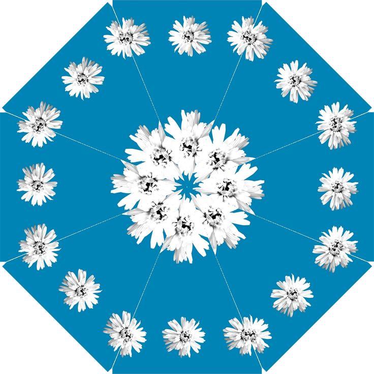 Daisy Chain Sky Blue Bridesmaids Umbrella