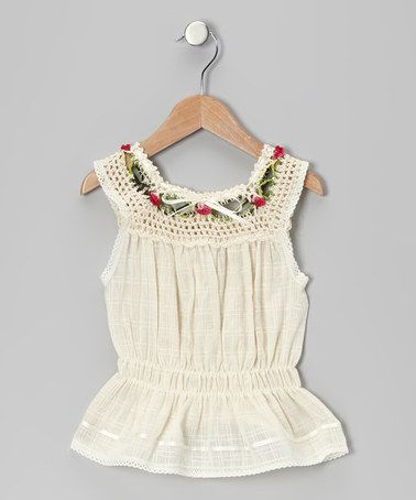 Take a look at this Natural Luz Floral Knit Top - Infant, Toddler & Girls by Little Cotton Dress on #zulily today!