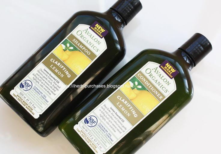 Avalon Organics, Shampoo, Clarifying Lemon, 11 fl oz (325 ml), Avalon Organics, Conditioner, Clarifying Lemon, 11 fl oz (325 ml)