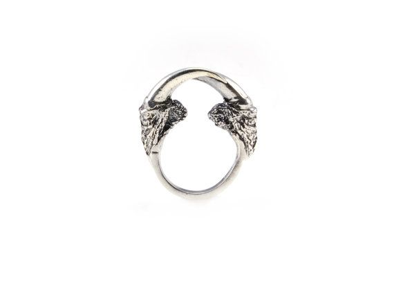 The Hunted II owl talon arch ring in bronze or sterling silver / Eilisain
