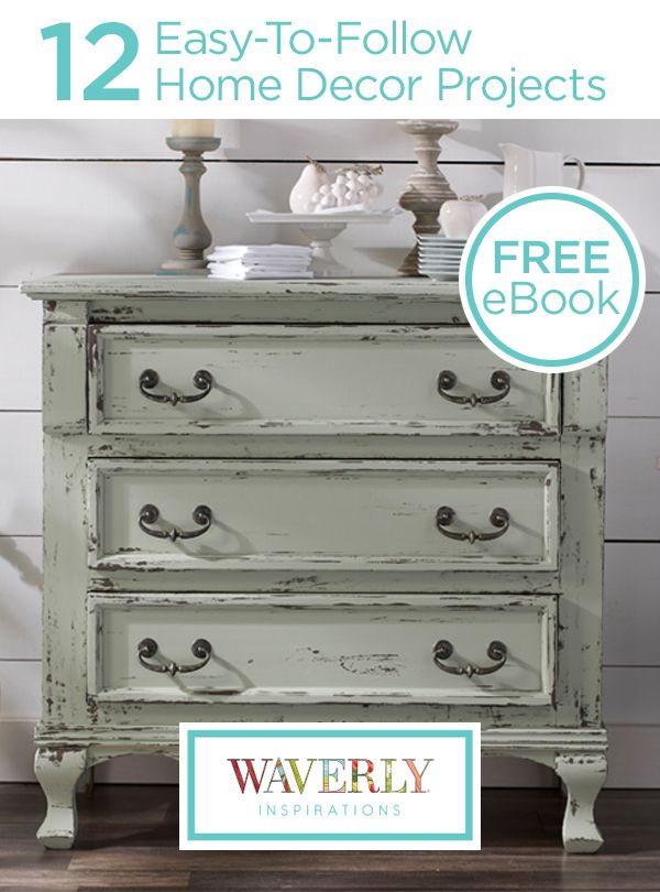 Home Decor Chalk Paint. Painted Dresser Using Americana Decor