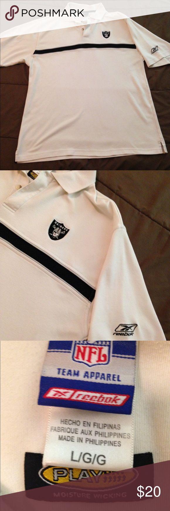 """Reebok NFL LA Raiders Polo Sz Large Reebok NFL LA Raiders Polo Sz L in great preowned condition. Armpit to armpit 23"""". Reebok Shirts Polos"""