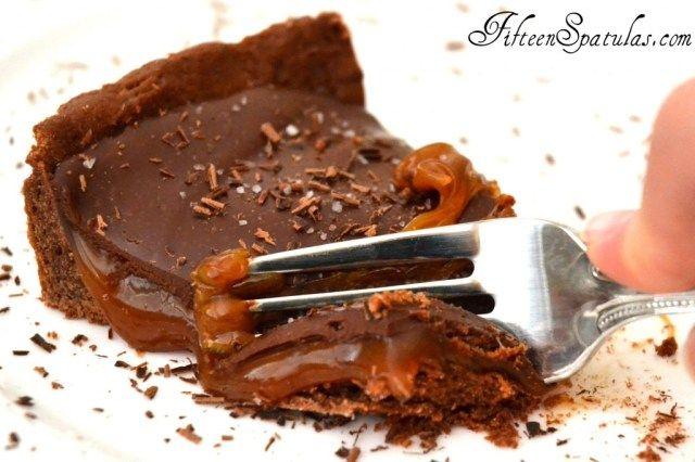 Salted Caramel Chocolate Ganache Tart