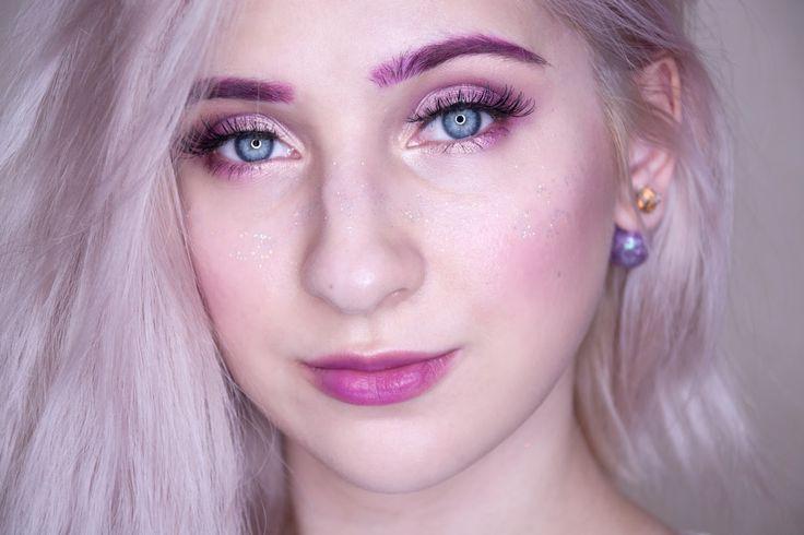 pink eyebrows makeup