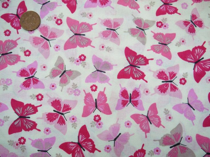 No.37: Range 2: £5 per letter Mixed Pink butterflies and flowers on white