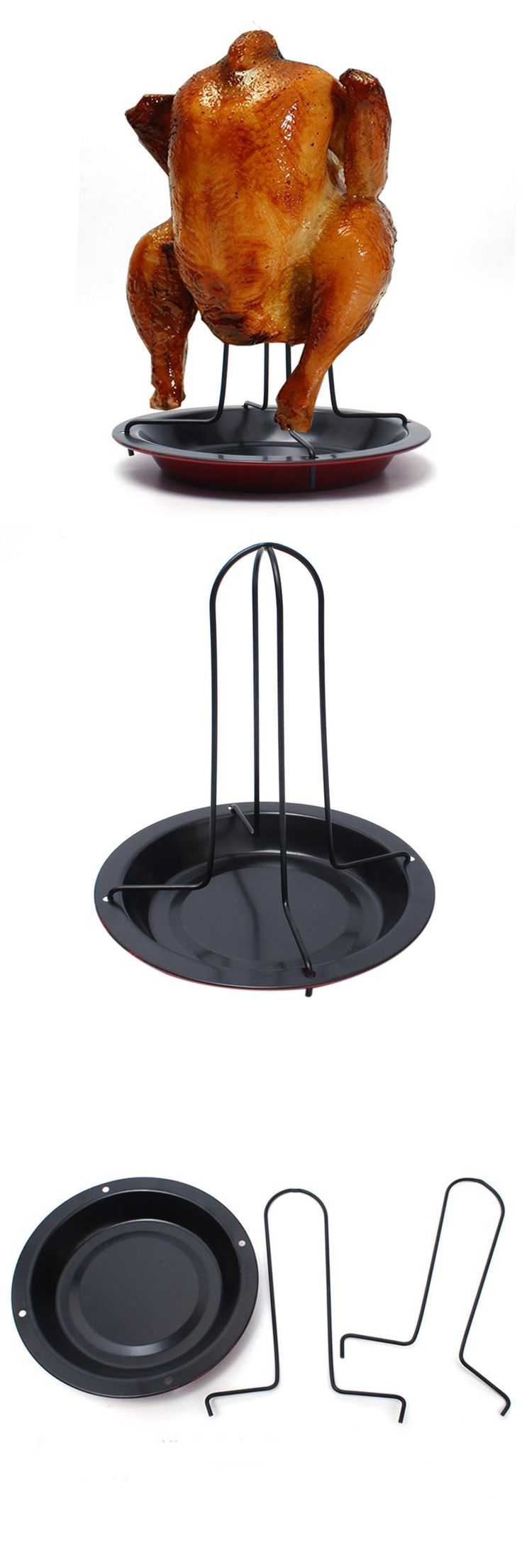 [Visit to Buy] Vertical Nonstick Carbon Steel Chicken Poultry Roaster Cooker #Advertisement