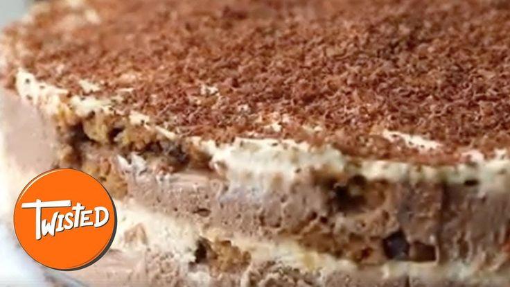 Baileys Tiramisu Cookie Cake - YouTube