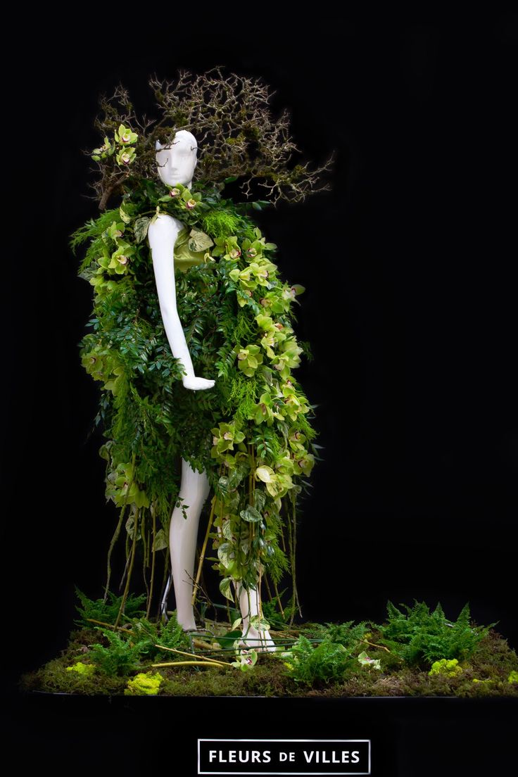Created by Garlands Florist for the New District Mannequin.