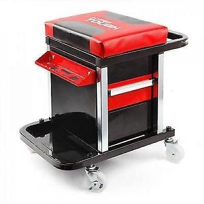 Hyper Tough 2 Drawer Roller Seat Tool Box Chest Cabinet Rolling Toolbox Storage
