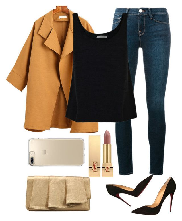 """The coat that reflects your beauty"" by sauzan on Polyvore featuring Frame, Vince, Christian Louboutin, La Regale, Yves Saint Laurent and Speck"