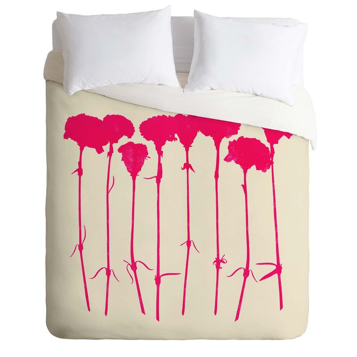 Garima Dhawan Carnations Pink Duvet Cover | DENY Designs Home Accessories