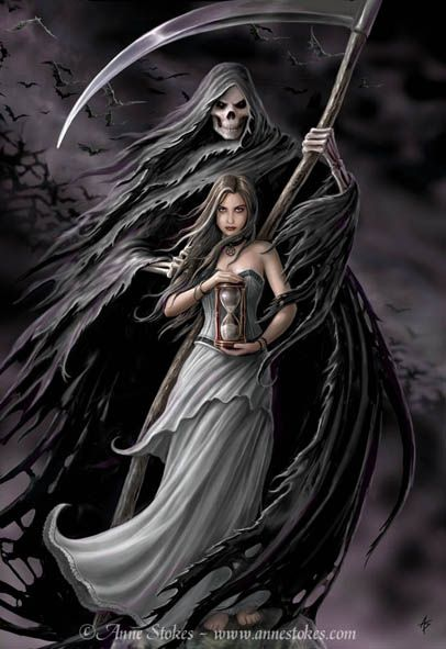 #Fantasy #Art #Goth - Summon the Reaper by Anne Stokes