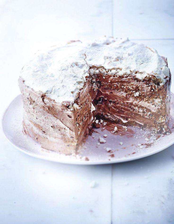 Recette Gâteau meringué chocolat, noisettes et café