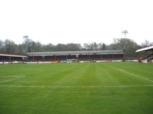 The EBB Stadium at The Recreation Ground, Aldershot Town FC.