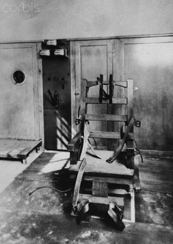 Florida State Prisons First Electric Chair - HU015917 - Rights Managed - Stock Photo - Corbis